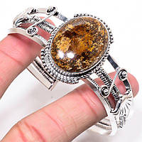 """Жесткий браслет с  бронзитом """"Бронзовый""""от студии  www.LadyStyle.Biz, фото 1"""