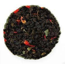 Чай зелений ароматизований Полуниця з вершками 200 гр