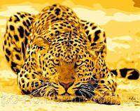 Картина по номерам НАБОР БЕЗ КРАСОК! MG305 Леопард притаился 40 х 50 см