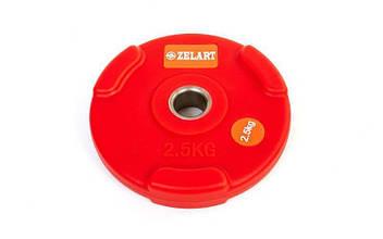 Блины (диски) полиуретановые с хватом 2,5кг