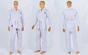 Кимоно для каратэ белое профессиональное MIZUNO (хлопок, р-р 0-5 (130-180см)) KR-2