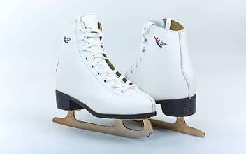 Коньки фигурные белые TK-082-B