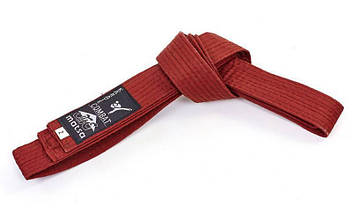 Пояс для кимоно MATSA коричневый (хлопок, р-р 0-7, l-230см-300см) KR-7