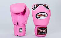 Перчатки боксерские кожаные на липучке TWINS (р-р 10-12oz) BP-45