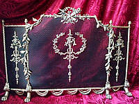 Екран  для камина из бронзы