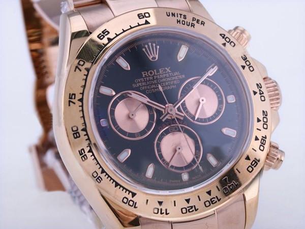 Rolex Daytona gold and black