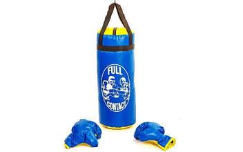 Боксерский набор детский (перчатки+мешок) L PVC UR