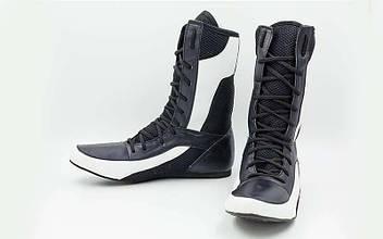 Боксерки Кожа RIV (черный-белый)
