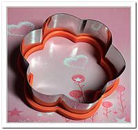Вырубка Цветочек металл-силикон для пряников и печенья