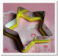 Вырубка Звезда металл-силикон для пряников и печенья