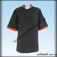 Китель (куртка) повара чёрный, габардин