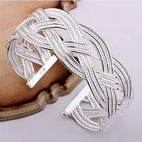 Серебряный женский браслет ажурный