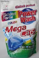 Капсулы  для стирки цветного белья Power Wash Color Mega Caps  20 шт.