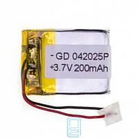 Аккумулятор GD 042025P 200mAh Li-ion 3.7V
