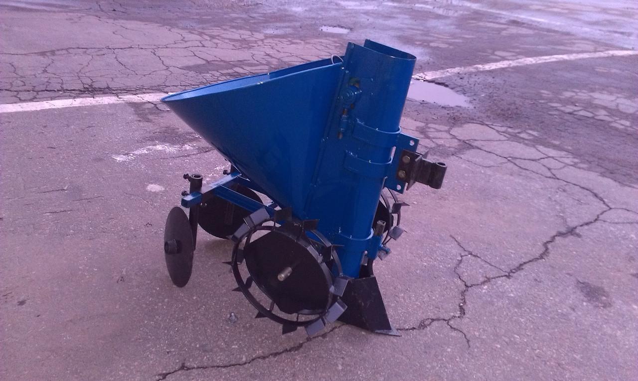 Картофелесажалка мотоблочная КСМ-1Ц (синяя)