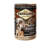 """Влажный корм Carnilove Reindeer for adult dogs """"С мясом северного оленя"""" 10,2/7,1 (для взрослых собак), 400 гр"""