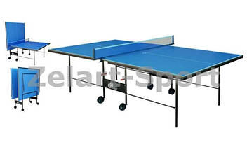 Стол теннисный UR (Gk-3) ST-2 (складной,ДСП, 16мм, мет,плас,р-р 2,74х1,52х0,76м, сетка, син)