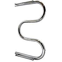 Полотенцесушитель водяной Змеевик 30  600х400 с полкой нержавеющая сталь