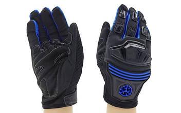 Мотоперчатки текстильные с закрытыми пальцами и протектором SCOYCO (р-р M-XL) PM-74