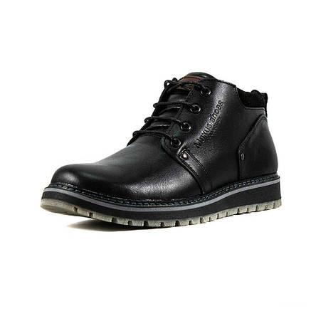 Ботинки зимние мужские Maxus 82-1 черная кожа, фото 2