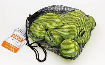 Мяч для большого тенниса TELOON (12шт) COACH 4 (в сетчатом мешке) MT-0