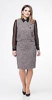 Платье Дали-5364 белорусский трикотаж, черно-белые тона, 48