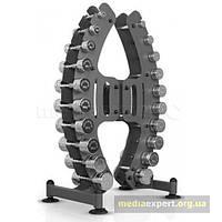 Набор гантелей хромированных со стойкой Marbo Sport 1-10 кг Mp-s206