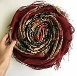 Песнь уходящего лета 1827-6, павлопосадский платок шерстяной с шелковой бахромой, фото 6
