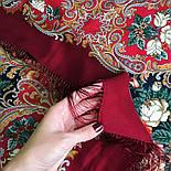 Песнь уходящего лета 1827-6, павлопосадский платок шерстяной с шелковой бахромой, фото 7