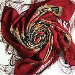 Песнь уходящего лета 1827-6, павлопосадский платок шерстяной с шелковой бахромой, фото 8