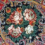 Песнь уходящего лета 1827-6, павлопосадский платок шерстяной с шелковой бахромой, фото 4