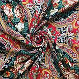 Песнь уходящего лета 1827-6, павлопосадский платок шерстяной с шелковой бахромой, фото 9