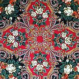 Песнь уходящего лета 1827-6, павлопосадский платок шерстяной с шелковой бахромой, фото 5