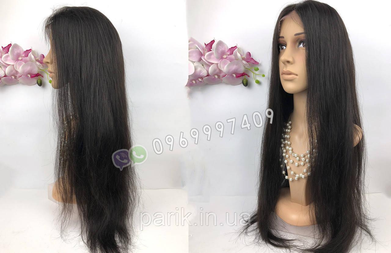 Парик длинный 80 см. (натуральные чёрные  волосы)