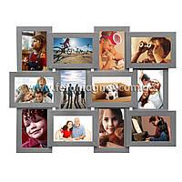 Коллаж для фото (фоторамка коллаж) Серебро.6/10х15,6Х15х10см.