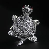Кольцо женское «Бриллиантовая черепаха»
