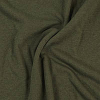 Кулирная гладь. Цвет Хаки. Трикотажная ткань в рулонах на вес. Хлопок 100%