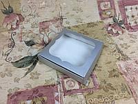 Коробка для пряников / 150х150х30 мм / Металлик / окно-обычн, фото 1