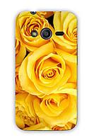 Чехол для Samsung Ace 4 (Желтые розы)