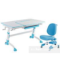 Комплект подростковая парта для школы AmareBlue + ортопедическое кресло Buono Blue FunDesk