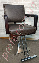 Парикмахерское кресло на гидравлической помпе ZD-381A, коричневое