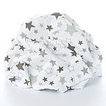 Пелёнка фланелевая с серыми звёздочками на белом.