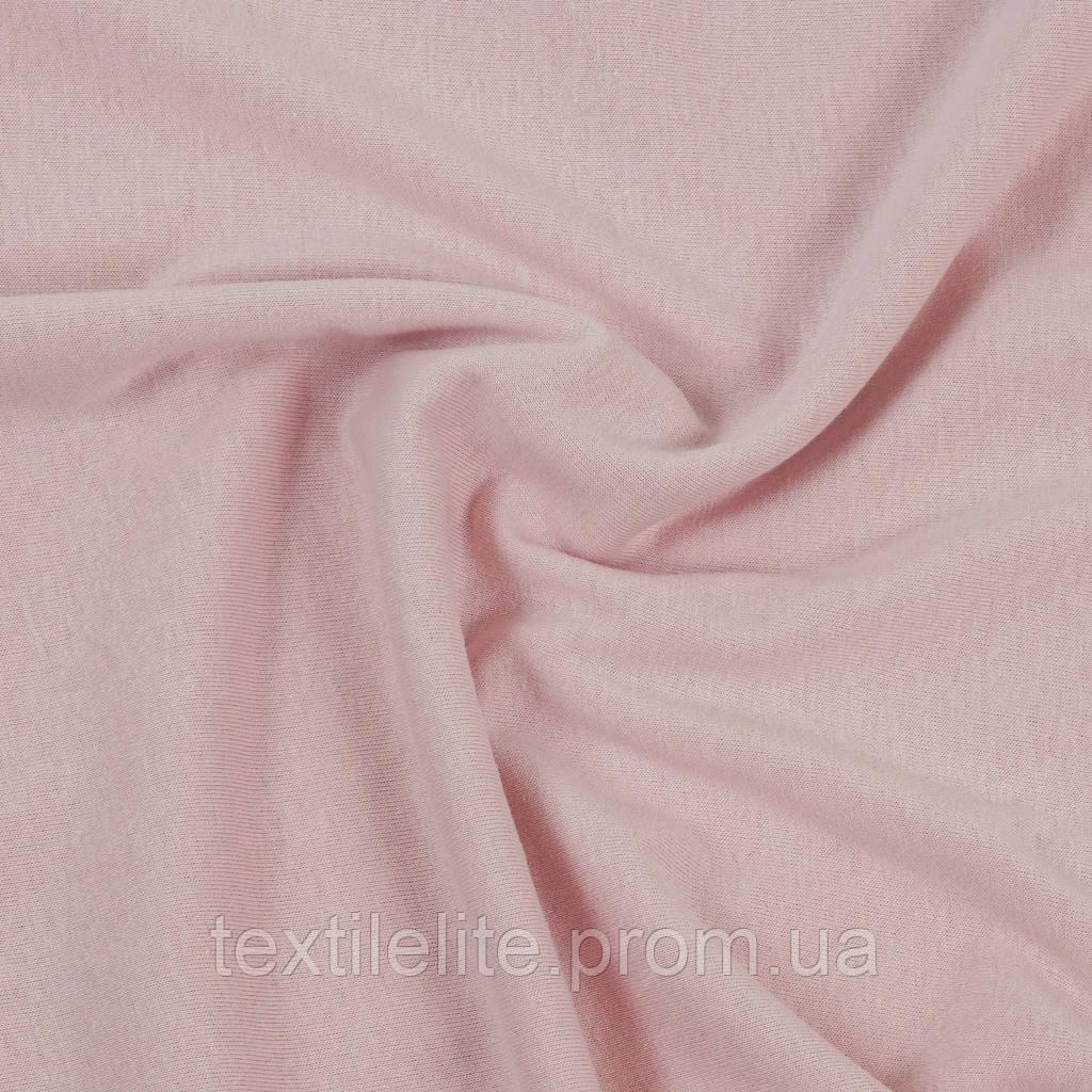 Трикотажная ткань кулир 100% хлопок. Цвет — Пыльно-розовый