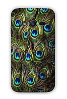 Чехол для Samsung Ace 4 (перо павлина)