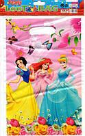 """Пакети подарункові, сумочки поліетиленові дитячі для подарунків """"Принцеси"""""""