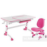 Комплект подростковая парта для школы AmarePink + ортопедическое кресло Buono Pink FunDesk
