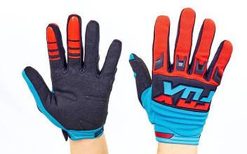 Кроссовые перчатки текстильные FOX (закр.пальцы, р-р M-XL) PK-1