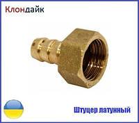 Штуцер латунный угловой 1/2Вх10мм