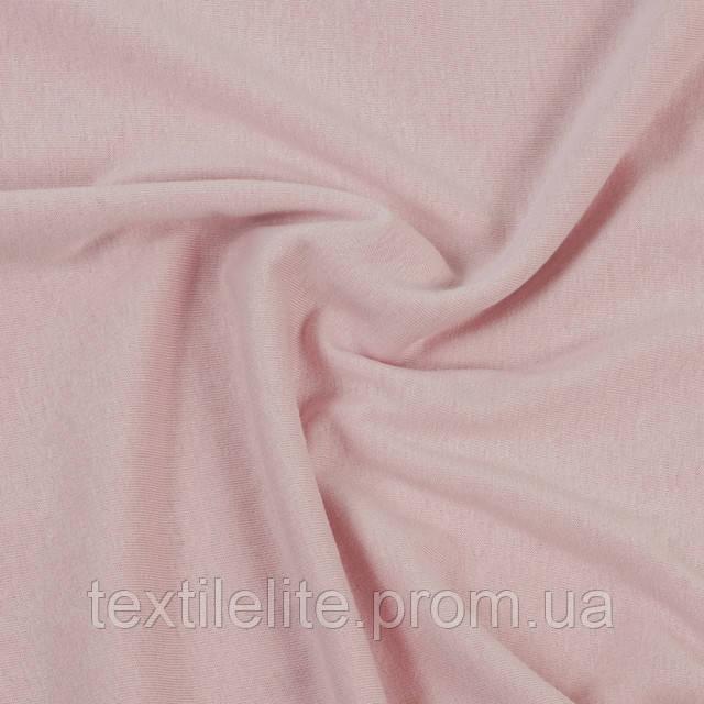 Кулирка оптом турецкая трикотажная ткань хлопковая 100%. Цвет - пыльно-розовый