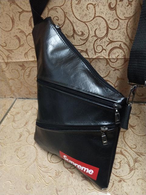 5d99cc94f04d Мужская сумка слинг Supreme через плечо, барсетка кож.зам кобура ...